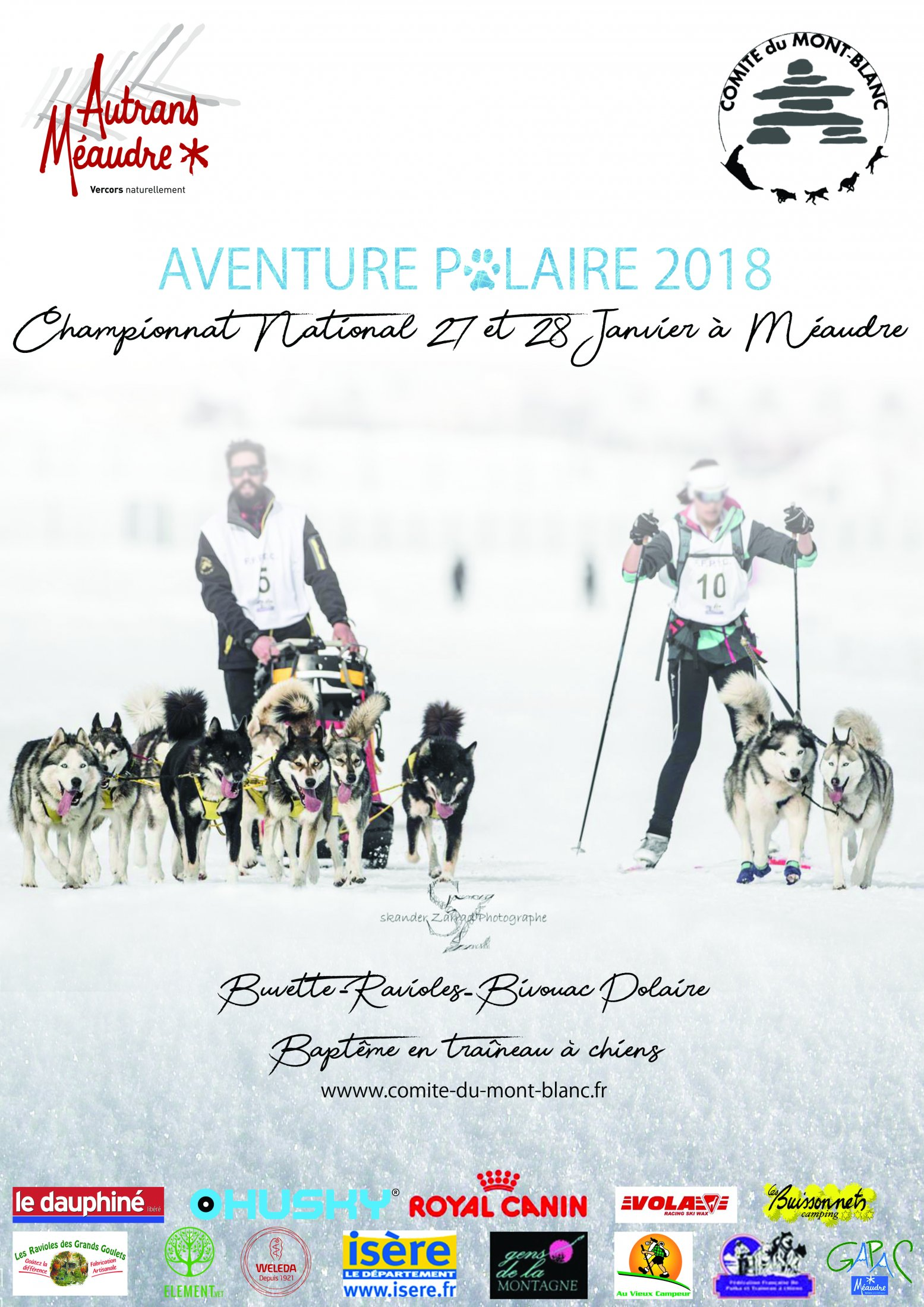 Affiche Aventure Polaire Méaudre Finale